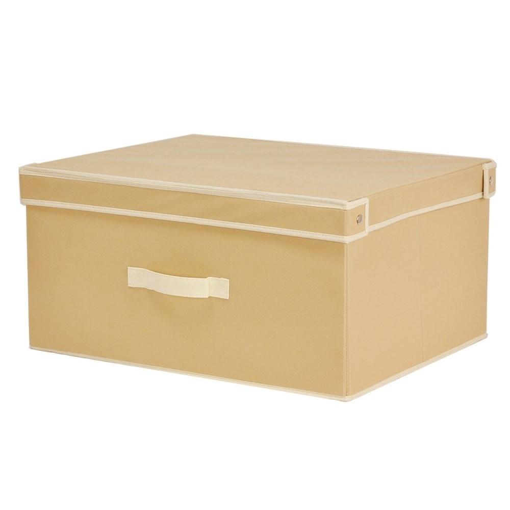 Caja Con Asa Beige – 50 X 40 X 25 Cm