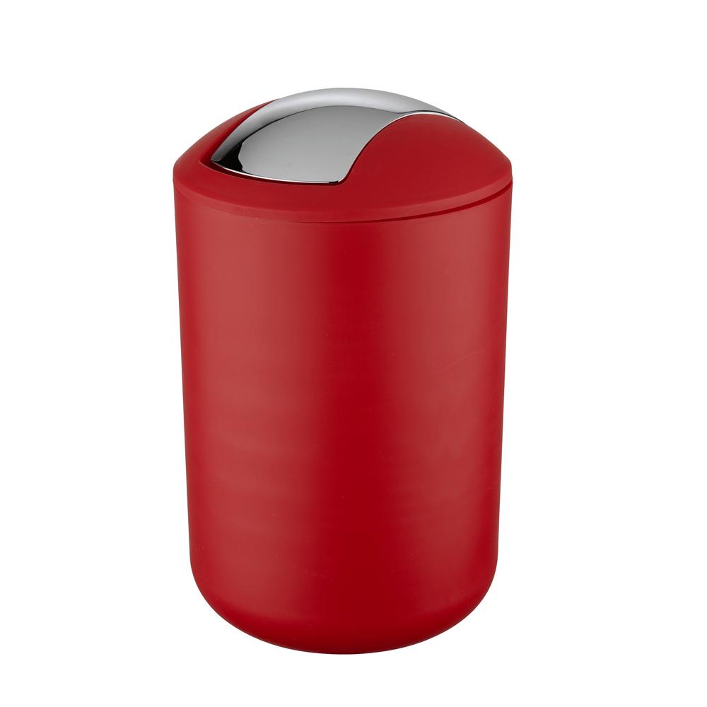 Cubo Tapa Abatible 65 Lts Brasil  Rojo