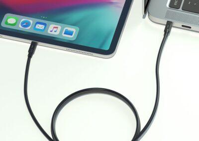 1 C - USB C NEGRO 1M