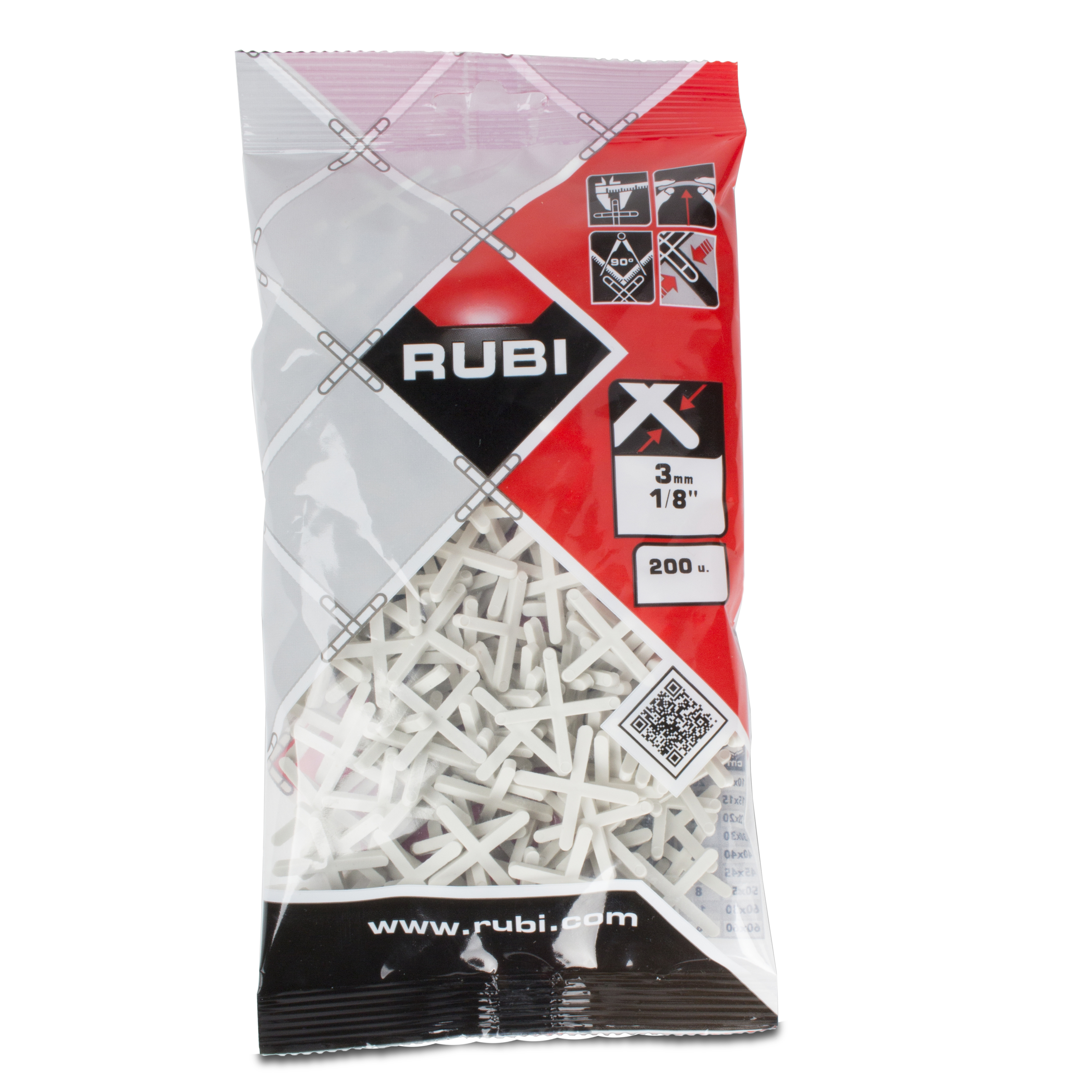 RUBI BOLSA CRUCETAS 3 M/M 200 UNID R 02902
