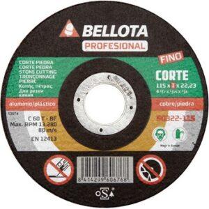 Disco abrasivo corte piedra extrafino 115 1 M/M  50322