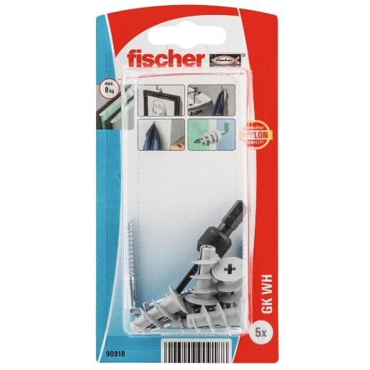 Fijación fischer para cartón-yeso GK WH con hembrilla abierta K