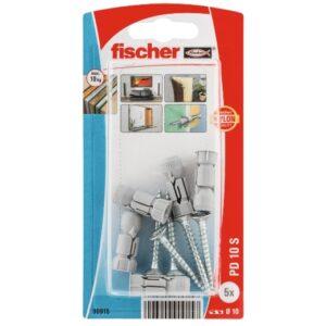 Fijación fischer para cartón-yeso PD 10 S con tornillo de aglomerado