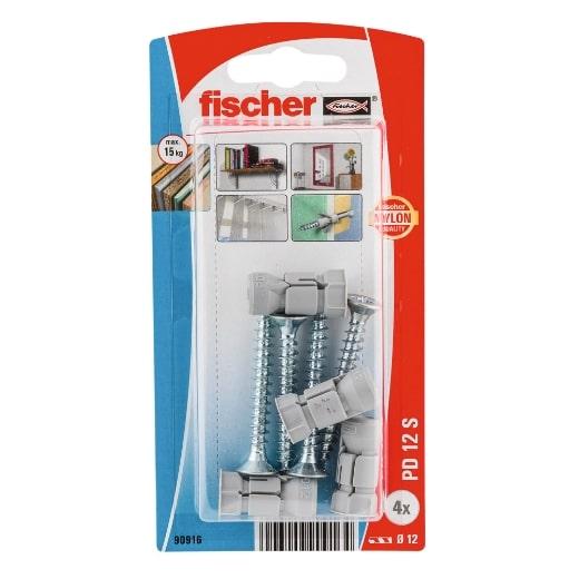 Fijación fischer para cartón-yeso PD 12 S con tornillo de aglomerado