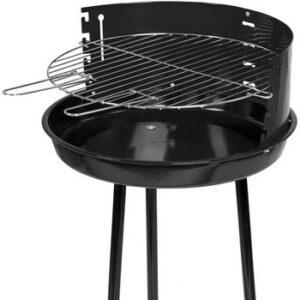 Barbacoa Carbón Redonda Acero Negro 45x74 cm
