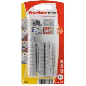 Taco de expansión Fischer SX 12 x 60 K con reborde