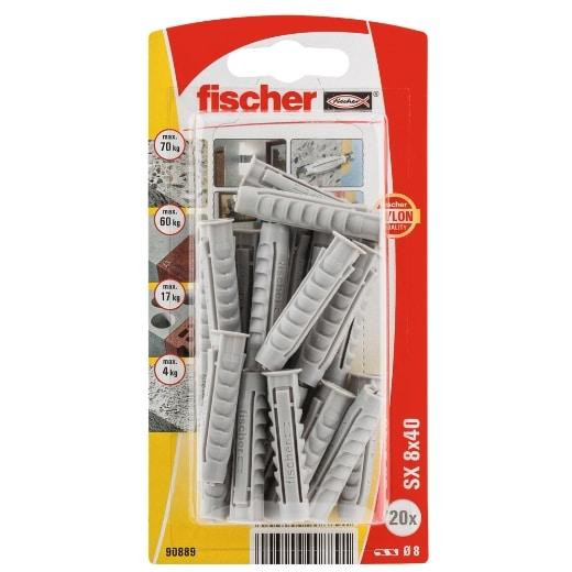 Taco de expansión Fischer SX 8 x 40 K con reborde