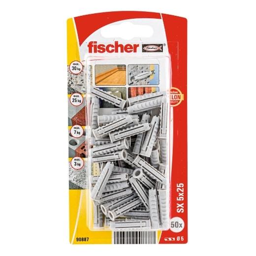 Taco de expansión fischer SX 5 x 25 K con reborde