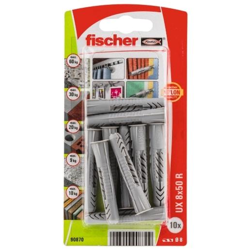 Taco universal FischerUX 8 x 50 R K con reborde