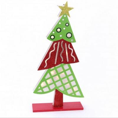 Árbol de Navidad de madera y color