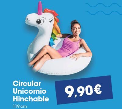 Circular unicornio hinchable