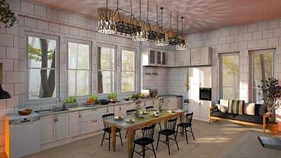 Cómo decorar la pared de tu cocina con azulejos