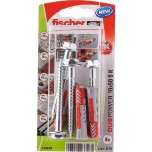 fischer DuoPower 10 x 50 S con tornillo