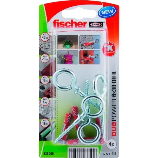 fischer DuoPower 6 x 30 OH con gancho de ojo