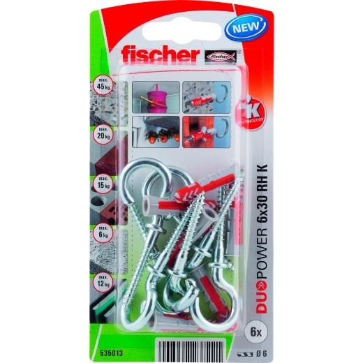 fischer DuoPower 6 x 30 RH con hembrilla abierta