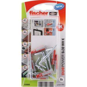 fischer DuoPower 6 x 30 WH con alcayata