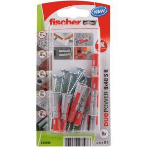 fischer DuoPower 8 x 40 S con tornillo