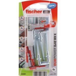 fischer DuoPower 8 x 40 WH con alcayata