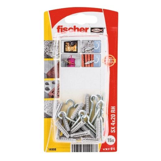 fischer Taco de expansión SX 4 x 20 RH con hembrilla abierta