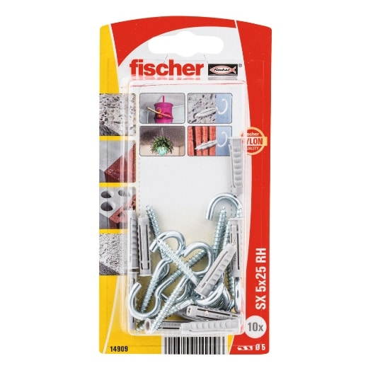 fischer Taco de expansión SX 5 x 25 RH con hembrilla abierta