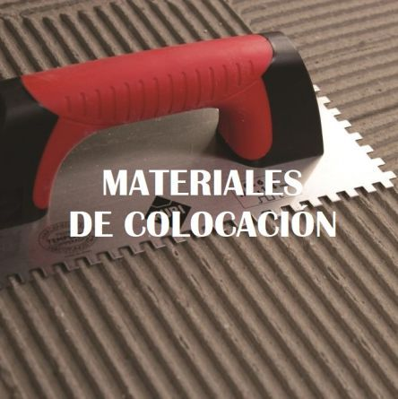 materiales de colocación