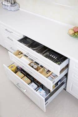 Organizar armarios bajos cocina organizada