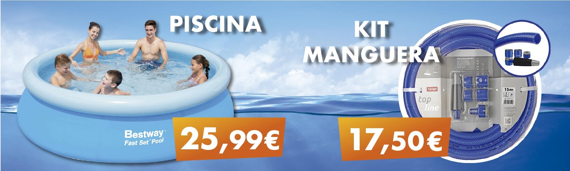 piscina kit manguera veranito