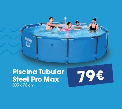 Piscina tubular steel pro max