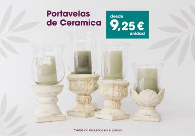 Portavelas de cerámica