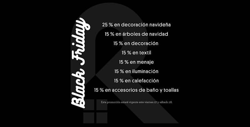 Rebajas de Black Friday en Rondón