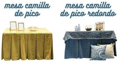 Tipos de Mesas de Camilla